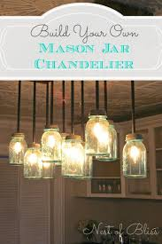 build it diy mason jar chandelier from nest of bliss mason diy adore diy hanging mason jar