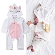 XIAXAIXU - <b>Newborn Kid Baby Girl</b> Unicorn Flannel Romper ...