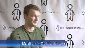 mcalister s deli interview cashier