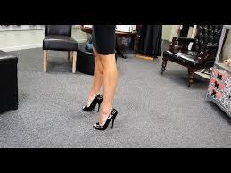 Unboxing Try Out <b>6 Inch</b> Open Toe Single Sole <b>Black</b> High Heel ...