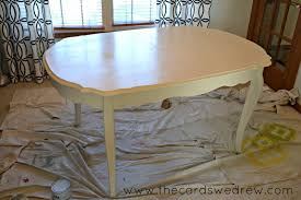 kitchen table sets bo: chalk paint dining room table upcycle adventure the cards we drew