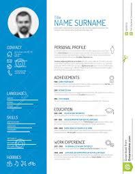 cv resume template stock vector image 50593576 cv resume template