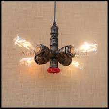 industrial vintage 4pcs e27 edison bulb water pipe pendant lamp rustic retro lustres hanging lighting for cheap rustic lighting