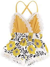 Summer Toddler Baby Girl Clothes Cute Fruit/Flower ... - Amazon.com