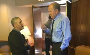 bill walker talks with president barack obama on air force one the president air force 1 office
