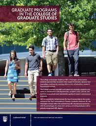 graduate degree programs graduate studies at ubc s okanagan campus graduate programs 2015