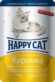 Влажный корм (<b>пауч</b>) <b>Happy Cat</b> chunks in gravy with Chicken