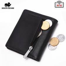 <b>BISON DENIM Fashion</b> Purse <b>Men's</b> Genuine Leather Wallet RFID ...