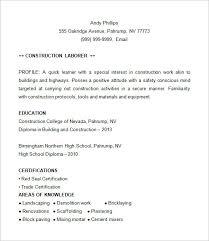 construction foreman sample resume resumecompanioncom    construction resume example