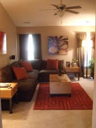 nice modern living rooms: modern living room in brown and red