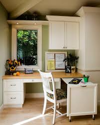 kitchen cabinets home office transitional: oak roll top desk home office traditional with baseboards built in desk bulletin board casement windows