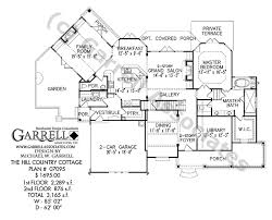 Hill Country Cottage House Plan   Country Farmhouse Southernhill country cottage house plan   st floor plan