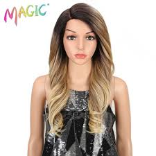 <b>magic Hair</b> 150 density <b>Ombre</b> Blonde <b>Wigs</b> 20 Inch Heat Resistant ...