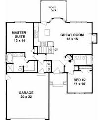 ideas about Bedroom House Plans on Pinterest   House plans    Traditional Style House Plans   Square Foot Home   Story  Bedroom and