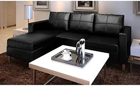 Sectional Sofa 3-Seater Artificial Leather Black 1 L ... - Amazon.com