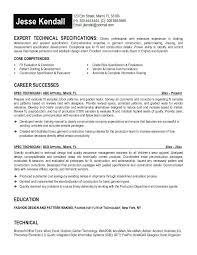 free spec technician resume exampleclick here