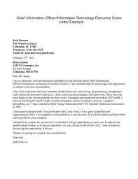 Information Technology Cover Letter Examples The Letter Sample