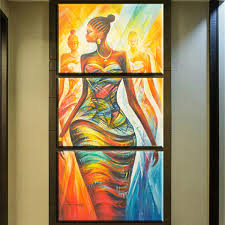 ZZ679 <b>HD PRINT</b> Poster Wall Art <b>3 pieces</b> Abstract Modern African ...