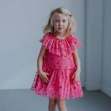 <b>Girl's Pink Tulle</b> Confetti Polka Dot Party Dress – cuteheads