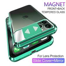 360° Full Body <b>Magnetic Metal Glass</b> Camera Protection <b>Case</b> ...