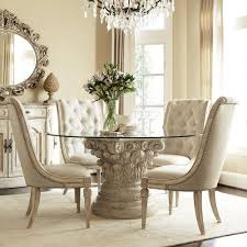 dining table interior design kitchen: interior stunning european furniture to brighten your home kitchen charming luxury dining room designs with awesome crystal chandelier round glass dining