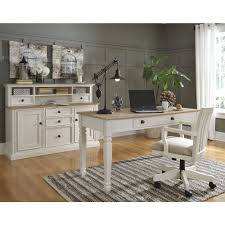ashley furniture sarvanny home office desk set in two tone local alymere home office desk