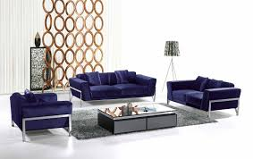 living room sofa ideas: funiture modern living room furniture ideas with navy blue contemporary sofa with metal legs and