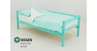 Детская <b>кровать тахта Бельмарко Skogen мятный</b> — купить по ...