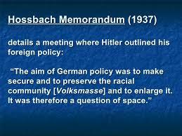 「Hossbach Memorandum」の画像検索結果