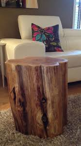 large wood stump side tables end tables coffee tablesrustic furniture eco awesome tree trunk table 1