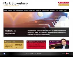 com effective and easy to update websites recommendations image of mark stokesbury website