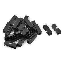 Amazon.com: uxcell 25 Pcs 16-Pin <b>Double</b> Row Straight Shrouded ...