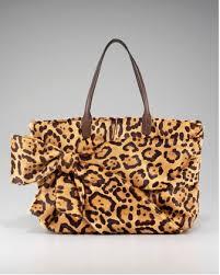 Valentino <b>Leopard</b> Hair Calf Bow <b>Tote Leopard Fashion</b>, <b>Animal</b> ...