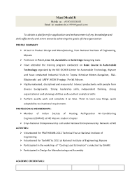resume mani mtech product design and manufacturing