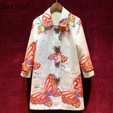 <b>Svoryxiu</b> Elegant Blue Hand Painted Floral Print Dress Women Long ...