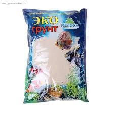 <b>Кварцевый песок</b> для аквариумов <b>Эко</b> грунт, 3,5 кг, фракция 0,3-0 ...