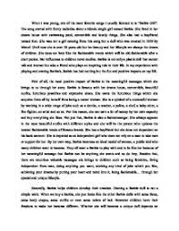 persuasive essay   defending barbie   gcse english   marked by  page  zoom in