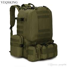 Detachable Outdoor MOLLE Tactical Backpack,<b>50L Large Capacity</b> ...