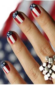 4th of July Nail Art Pictures