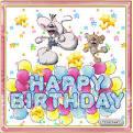Поздравление с днем рождения открытки движутся красивые бесплатно