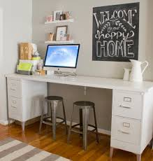 like the homemade desk file cabinets with a board over top insta homeoffice bathroomcute diy office homemade desk