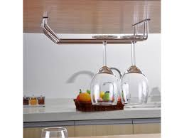 Double Row <b>Glass Rack Stainless Steel</b> Wine Glass Holder Under ...