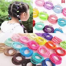 2pcs elastic rubber scrunchie hair tie assorted <b>color</b> VWC135 ...