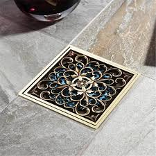 epak 1010cm new arrival antique bronze finish fashion design square floor drain shower drain antique furniture cleaning