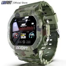 <b>LOKMAT Ocean Smart Watch</b> Men Fitness Tracker Blood Pressure ...