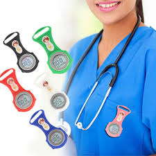 <b>Luminous Mini Digital Silicone</b> Calendar Nurse Watch Doctor Pocket ...