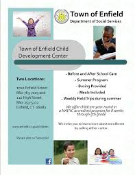 child care enfield public schools to obtain a list of either home or facility based day care providers please contact amy morales at the family resource center at 860 253 5144
