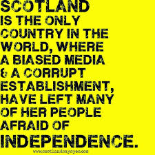Image result for scotland referendum bias images