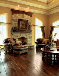 tuscan living room white stained