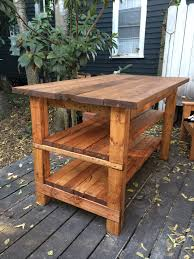 diy kitchen tables build your own rustic furniture